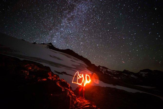 Sahale Peak at night