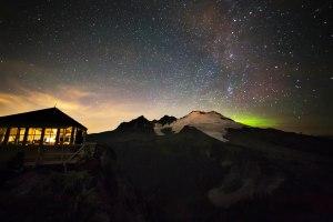 Mt Baker and Aurora glow
