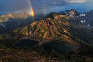 Rainbows over Twin Lakes