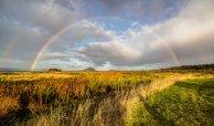 Double Rainbows over Fir Island