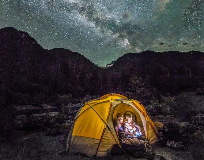 Camped along Baker River, North Cascades National Park