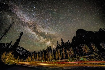 Milky Way over the North Cascades Highway