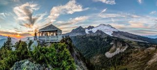 Park Butte and Mount Baker Panorama 2018