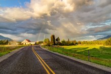 Rainbow along Cape Horn Road