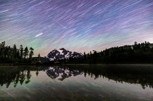 January - Meteor over Mt Shuksan