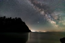 July - Night Sky Over Cape Disappointment