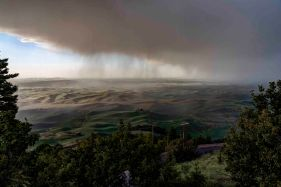 Passing Storm from Steptoe Butte